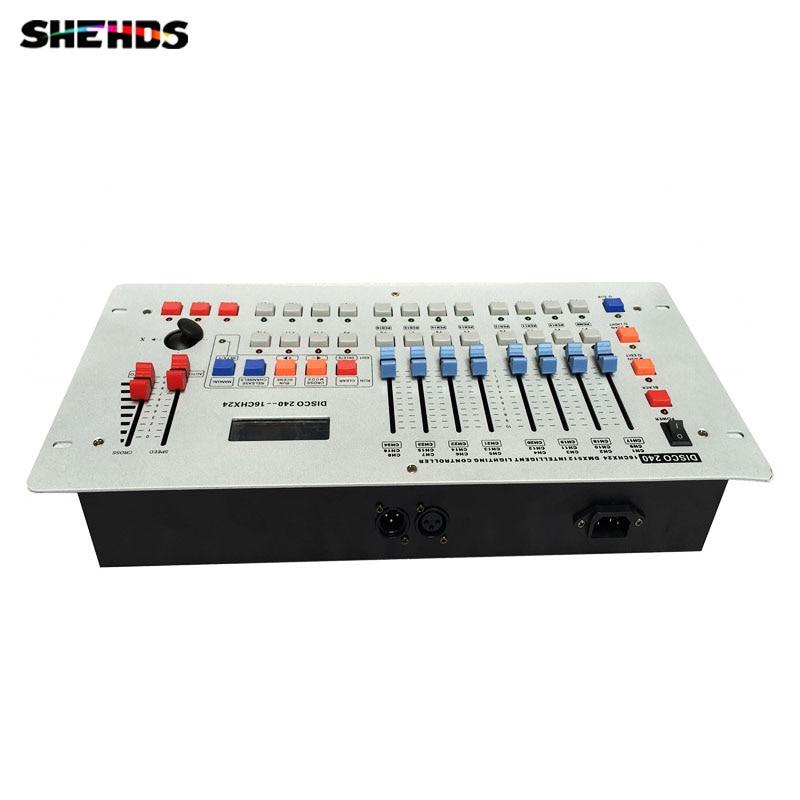 все цены на 2pcs/lot DMX Stage Conlose 240A By DHL 240 Channel Universal DMX-512 DMX Controller For Stage light LED Par Moving Head онлайн