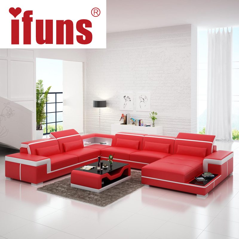 Diamond Modern White Leather U Shaped Sectional Sofa W: Online Buy Wholesale Leather Sofa Set With Lights From