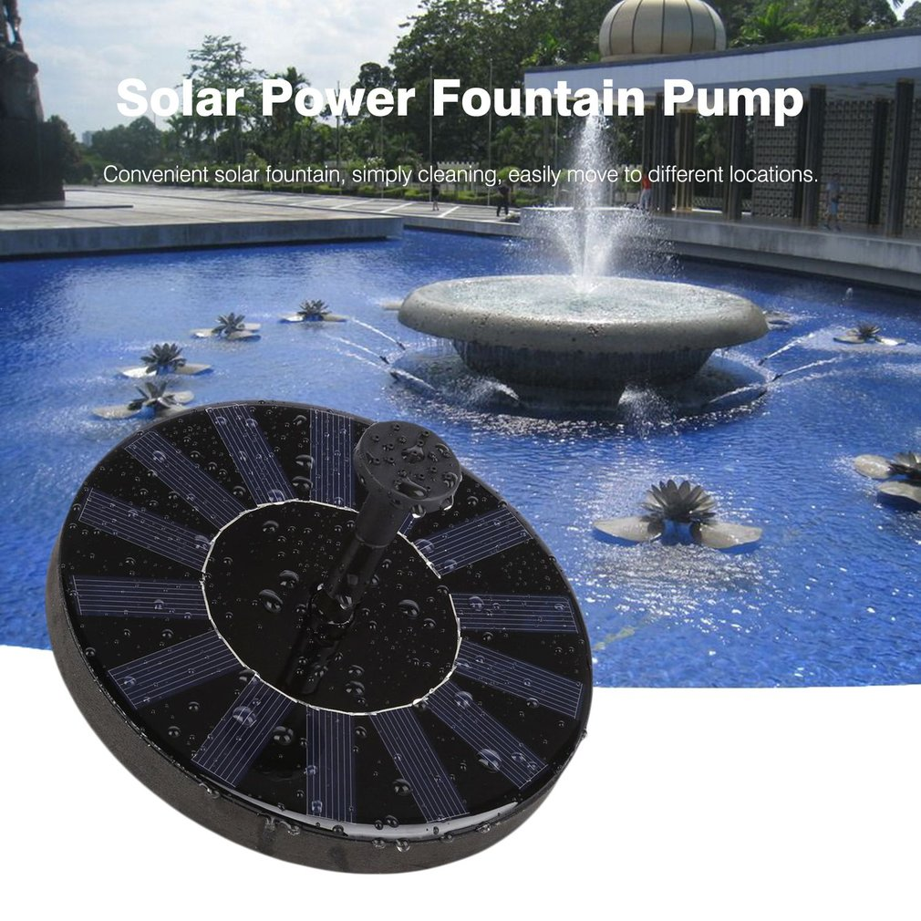 DC 4.5-10V Solar Water Panel Power Fountain Pump Kit With 4 Nozzles For Pool Garden Pond Watering Round Water Fountain Pump