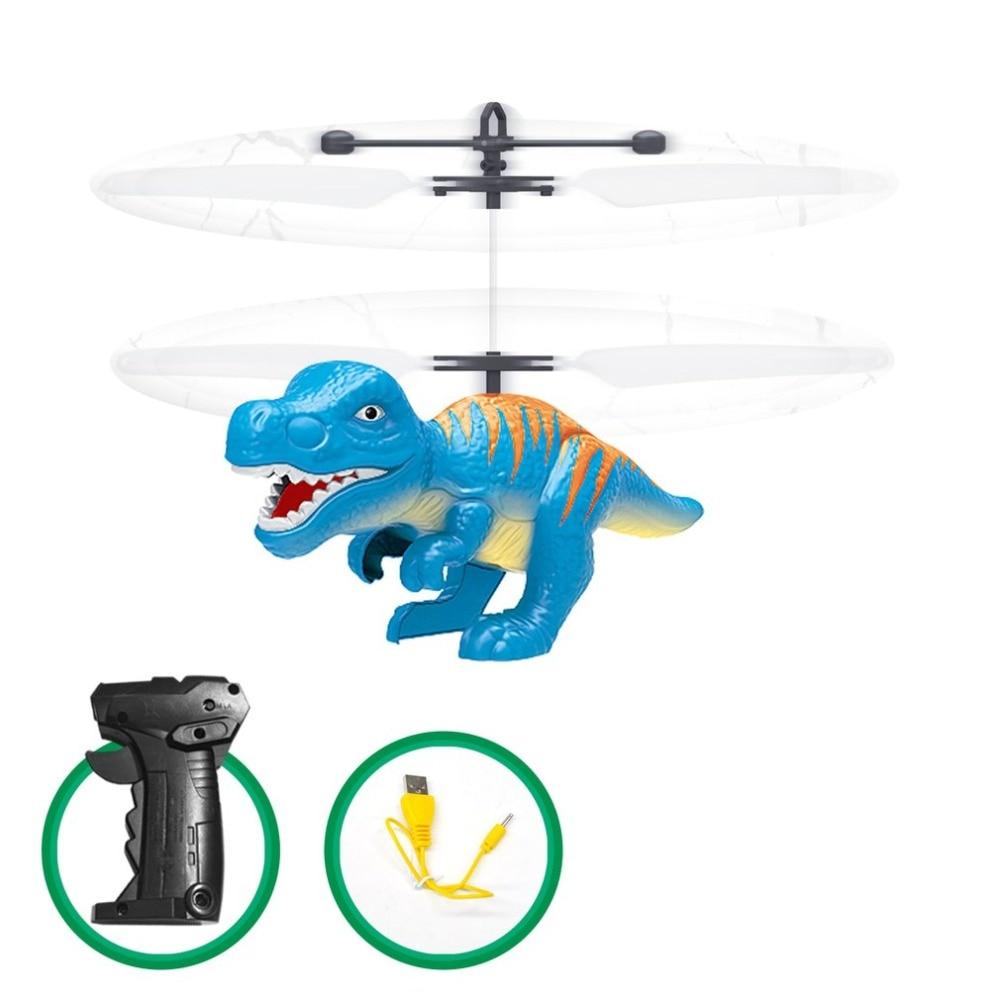 Électrique RC jouet volant capteur infrarouge dinosaure modèle hélicoptère LED Flash éclairage USB charge petit jouet RC pour les enfants hi