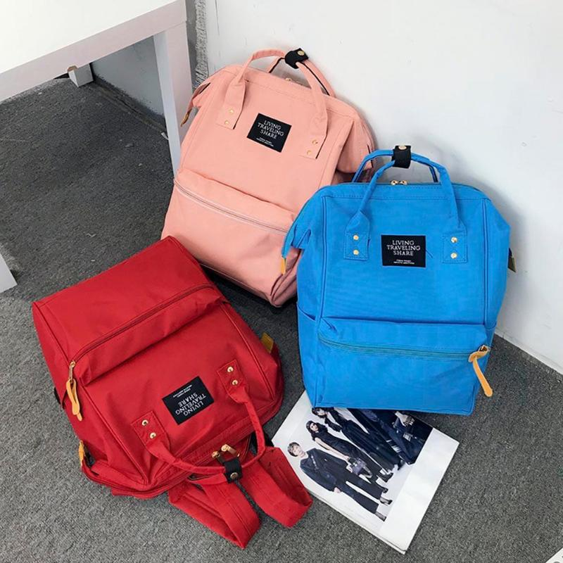 79550b6369e5 Women Men Casual Large Capacity Backpacks Teen Students Oxford Cloth Travel  Shoulder School Handbags Features  The fashion version of the type concise  but ...
