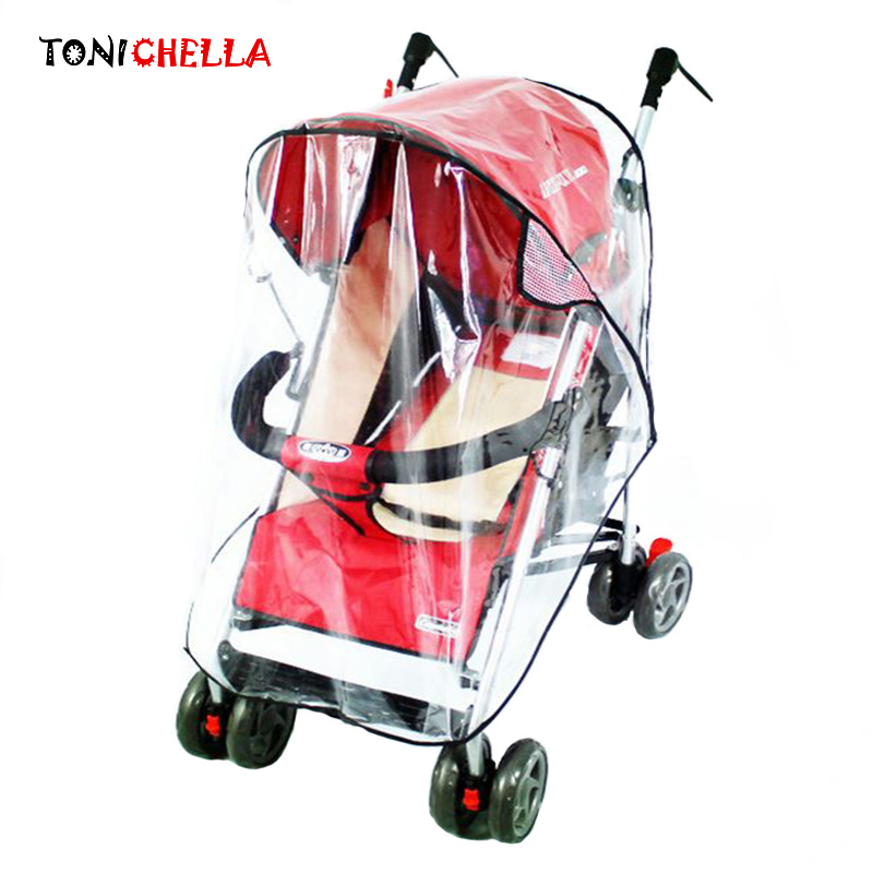 Strollers Accessories Waterproof Raincoat For Stroller Dust Rain Wind Shield Cover Universal Size Transparent Ventilation Cover Baby Pram Accessories Mother & Kids