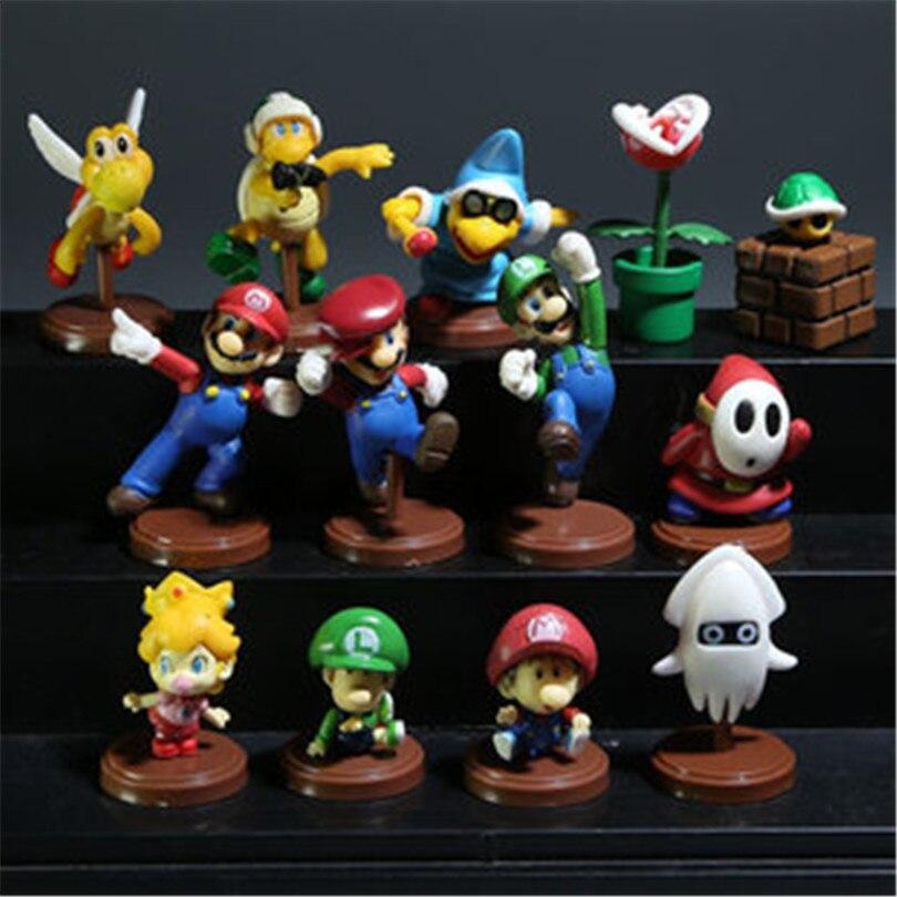 1Set <font><b>High</b></font> <font><b>Quality</b></font> Original Anime <font><b>Super</b></font> <font><b>Mario</b></font> <font><b>Bros</b></font> 6cm <font><b>Super</b></font> <font><b>Mario</b></font> Yoshi Dinosaur <font><b>PVC</b></font> Figure Toy 13pcs/<font><b>set</b></font>