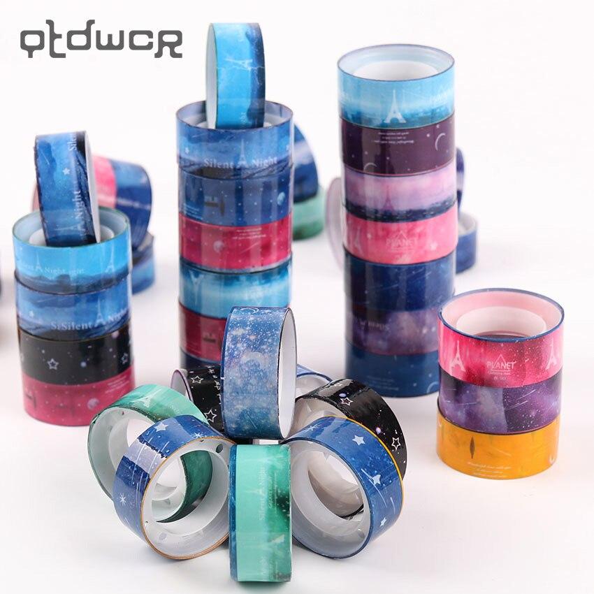 10PCS Decoration Tape Starry Sky Washi Pvc Roll DIY Sticker Scrapbooking Masking Tape