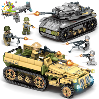 1061Pcs Tank Compatible Legoingly Military WW2 Chariot Toys Building Blocks Weapons Tank Blocks Enlighten Bricks Figures Child