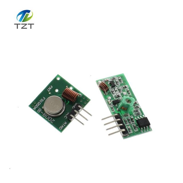 433Mhz RF Transmitter And Receiver Link Kit For Arduino ARM MCU DC 5V External Antenna AM Mode VCC Voltage Module