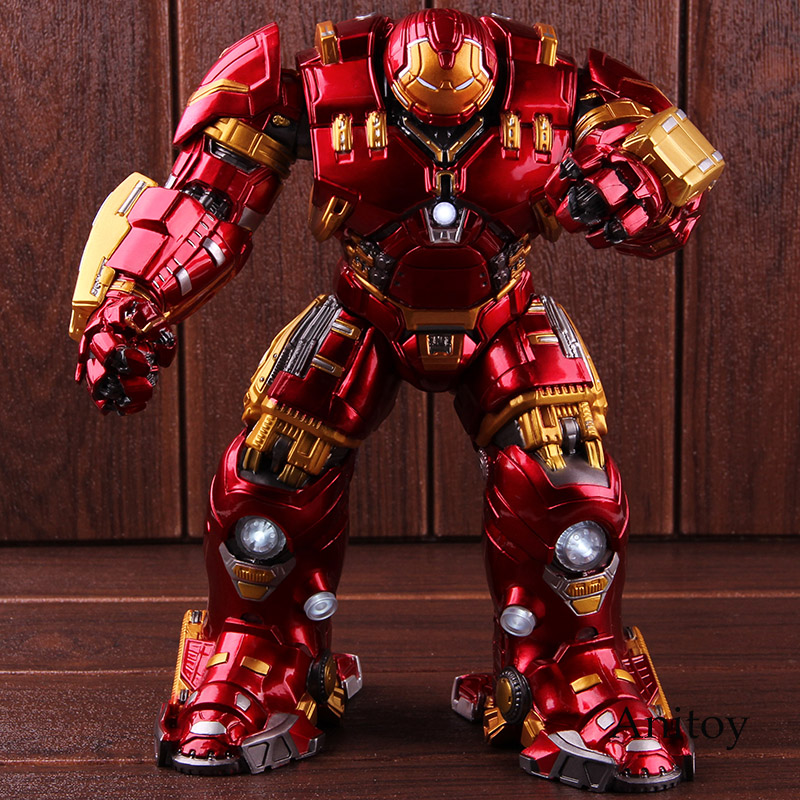 Marvel Avengers 2 Age of Ultron Mark 44 Hulkbuster Hulk Buster Action Figure with Light PVC Collectible Model Toy цена