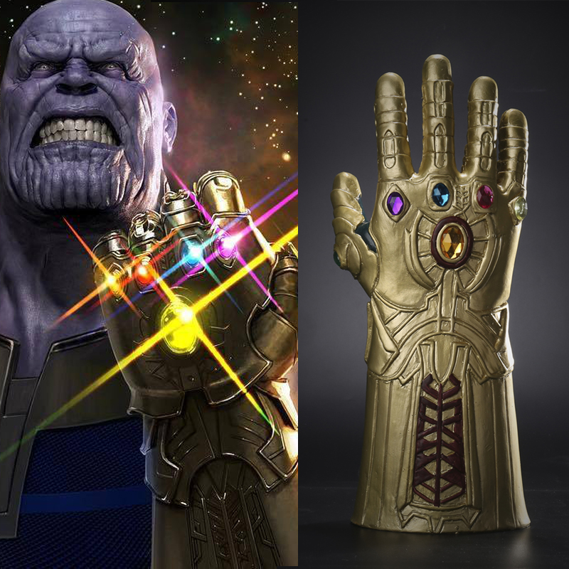 1 pc The Avengers Thanos Infinity Gauntlet Cosplay Gloves Prop Halloween Hard Latex Aven ...