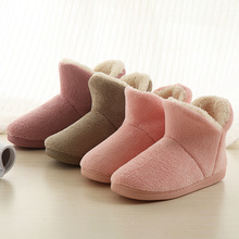 House shoes womens slippers indoor velvet family lovers short shoe warm thickened cotton home plus size 10 14