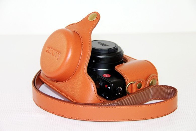 Leather Camera <font><b>Case</b></font> Cover Bag for For Panasonic <font><b>Lumix</b></font> DMC-LX5 DMC LX5 GK DMC-LX5GK DMC LX5 <font><b>LX7</b></font> DMC-<font><b>LX7</b></font> camera <font><b>case</b></font> bag image