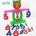 Children gift Learning & Education toys Brain balance w/weight&digital Plastic Math toys Educational games for Children/kids