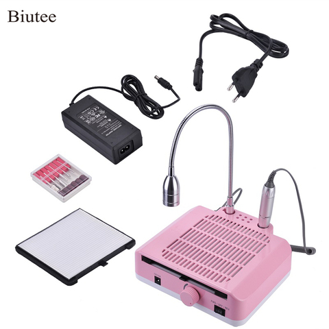 Biutee 35000rpm Electric Manicure Drill Machine 3 in 1  Nail Dust Collector Suction + Manicure Drill  Desk Lamp With Accessories Pakistan