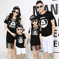 Panda Family Clothing Mom and Daughter Matching Fringe Dress Family Style Matching Outfits Father Son T shirt Clothes LB88