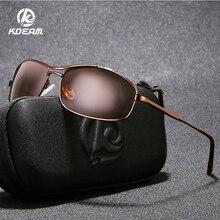 KDEAM Sports Fashion Polarized Sunglasses Men Rectangular Anti-glare Glasses Driving Fishing Gafas UV400 With Hard Case KD964