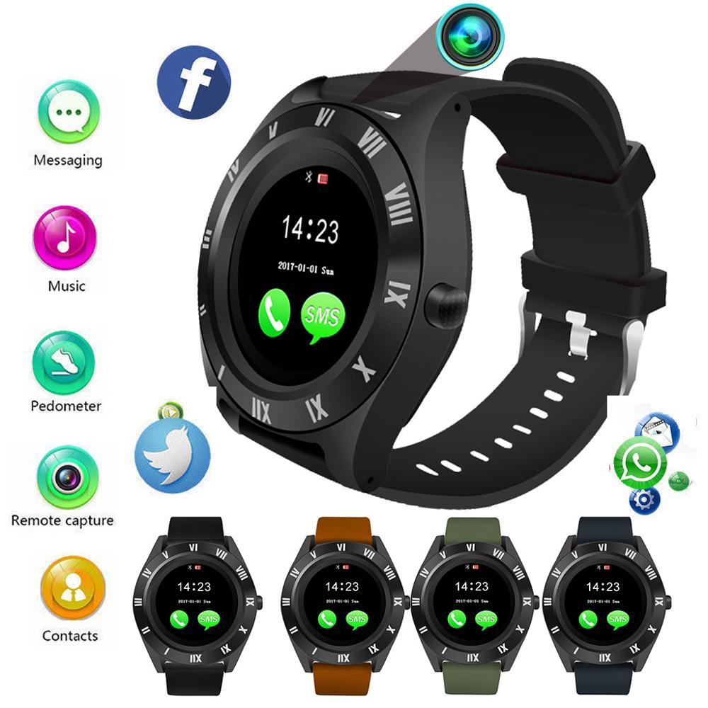 2019 Bluetooth montre intelligente écran tactile moniteur de sommeil avec caméra étanche sport Bracelet Fitness Tracker Bracelet intelligent