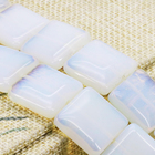 Accessories Sri Lanka Natural Moonstone Square Loose Beads Semi Finished Stones Balls Gifts DIY Jewelry making 20mm 15inch
