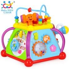 Бесплатная Доставка HUILE TOYS 806 Счастливый Маленький Мир Головоломки Brinquedos пункт Bebe Раннее Развитие Toys Многофункциональный Игры Рождественский Подарок