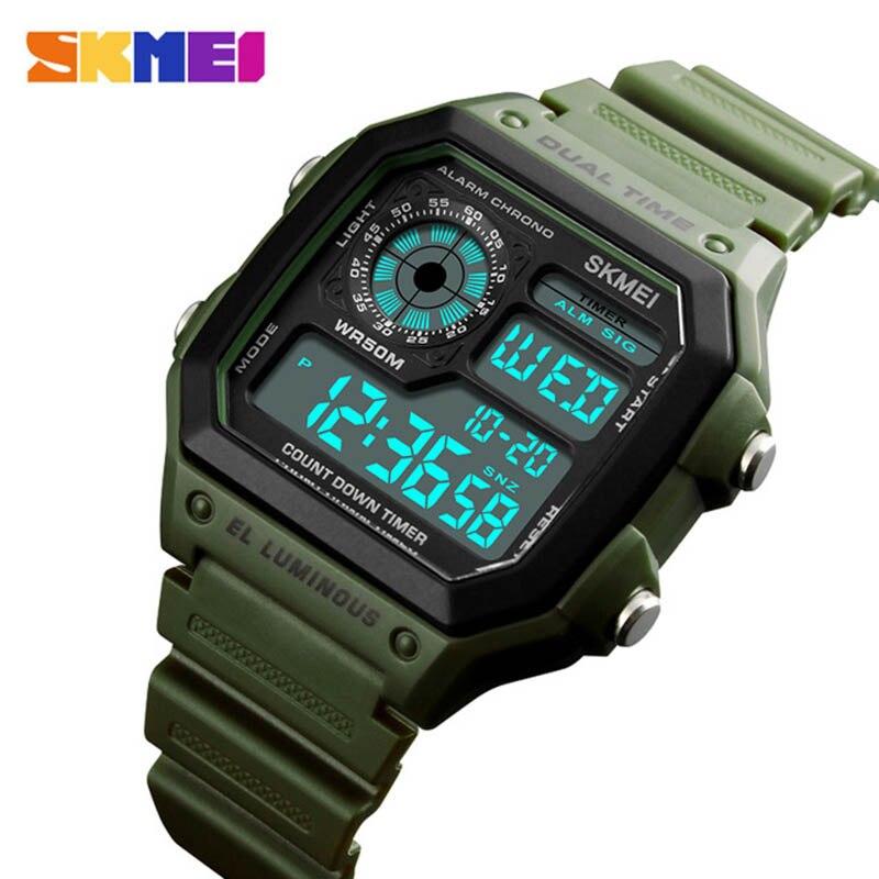 d7e7844df63 Comprar SKMEI Esportes Da Forma Relógios Homens À Prova D Água Relógios Ao  Ar Livre Relógio de Pulso Militar Homens Relogio masculino Digital de  Contagem ...