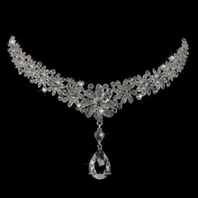 Hot Selling Red /silver Floral AAA Rhinestone Crystal Bridal Frontlet Hair Accessories Wedding Jewelry Wedding Accessories
