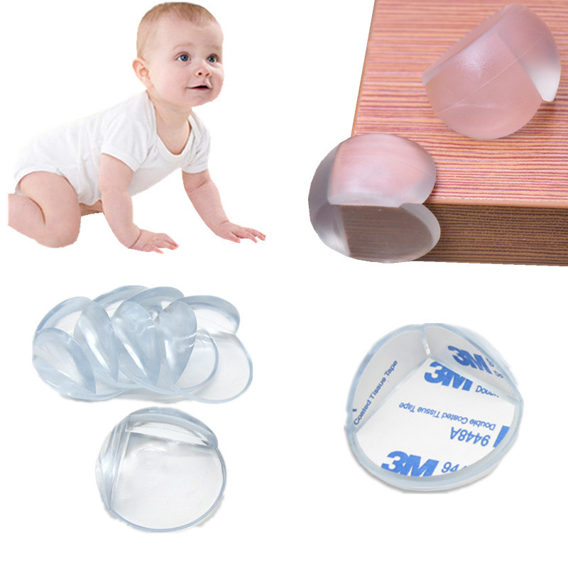4pcs Transparent Ball Shaped Desk Bar Table Conner Guards For Baby Safety Furniture Corner Protector Anti-Collision Angle Cover