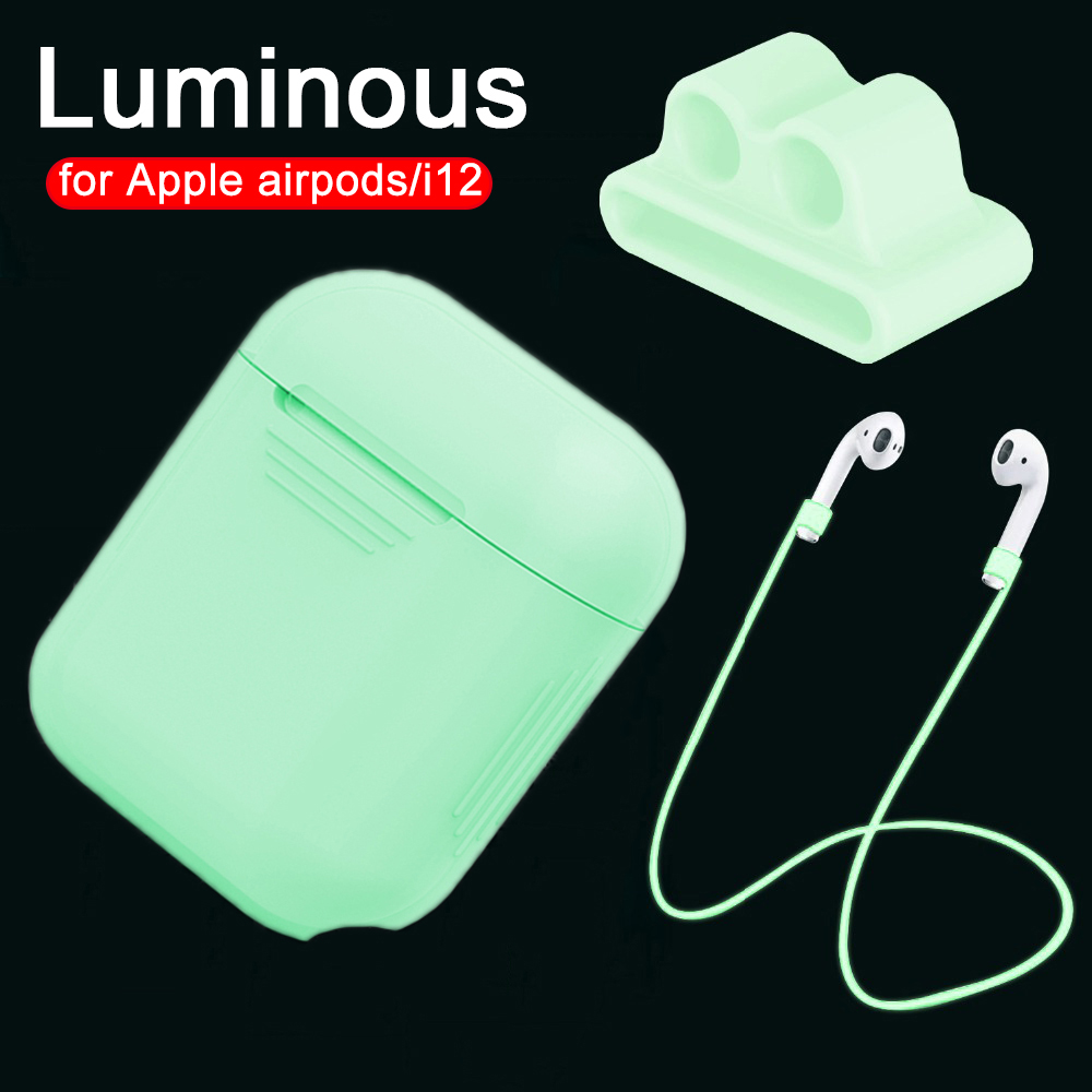 Luminous Case I9s I10 I11 I13 I19 TWS Earphone Silicone Cover For Apple Airpods Accessories Holder Protection Air Pods Coque