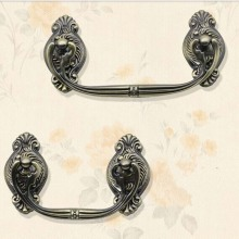 96mm shaky  ring drawer handles Bronze kitchen cabinet pulls antique zinc alloy dresser cupboard handles pulls knobs