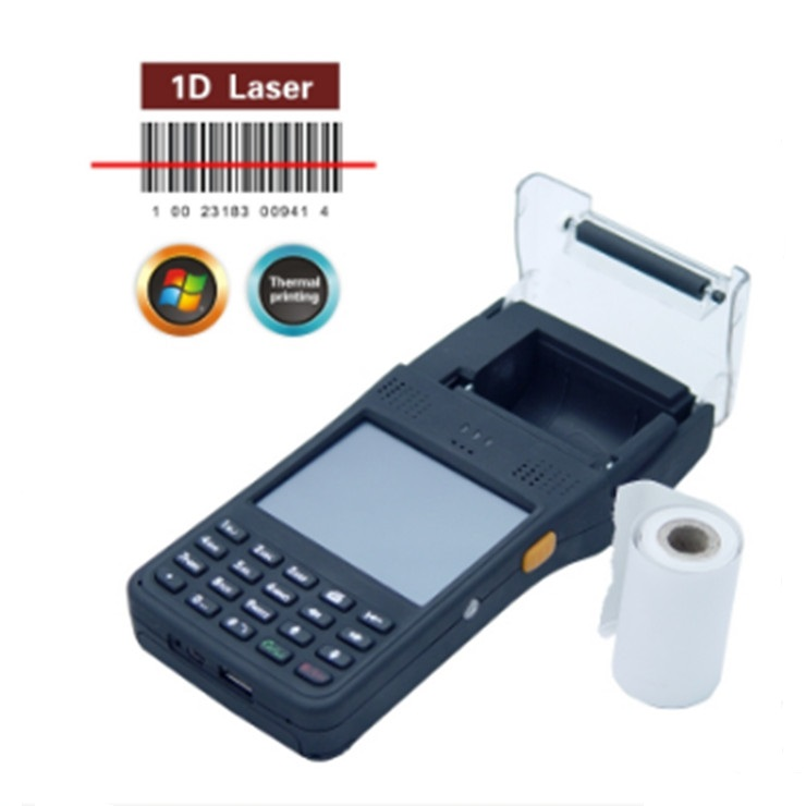 LS350T New Handheld Mobile PDA with 2'' Thermal Printer RFID Reader