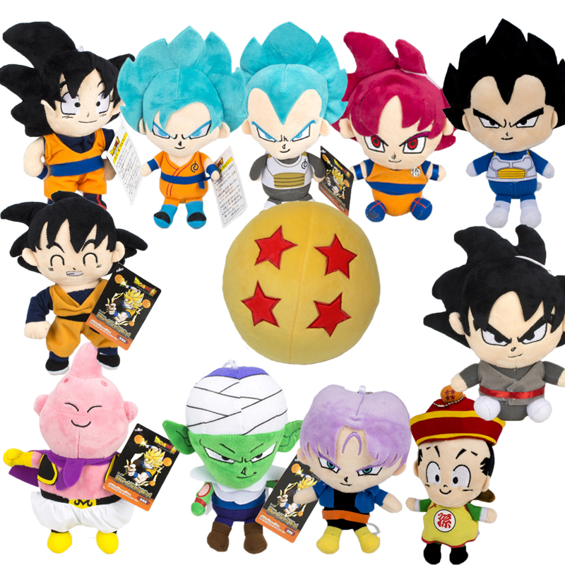 Dragon Ball Z Plush Toys Vegeta Goku Buu Plush Doll Super Saiyan Plush Dragon Ball Super Goku Plush Model Toys Doll