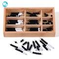 Montessori de Juguetes Educativos De Madera Tablero de Ajedrez Blanco y Negro Perlas Juguetes de la Matemáticas Formación Preescolar Juguetes de Aprendizaje de La Primera Infancia