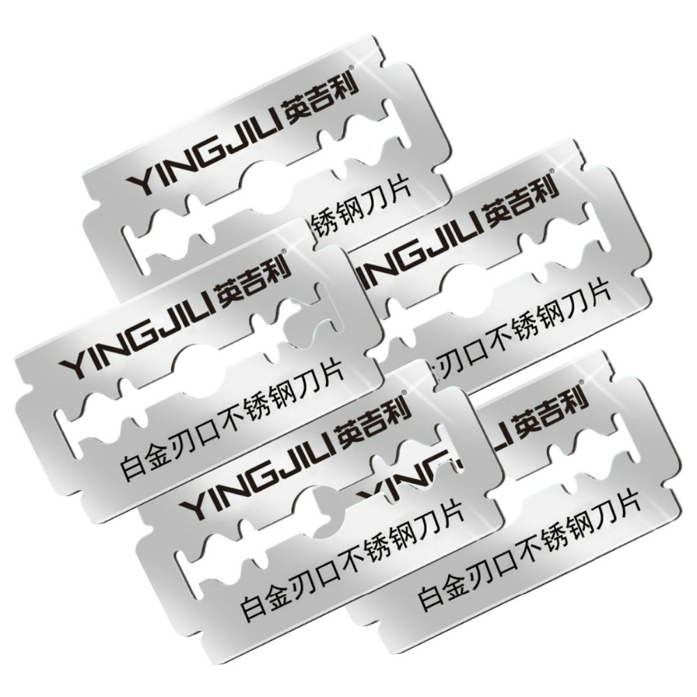 Platinum Level Double Edge Blade Safety Razor US Blades Razor Blade Refill, 5PCs(yingjili RD208)