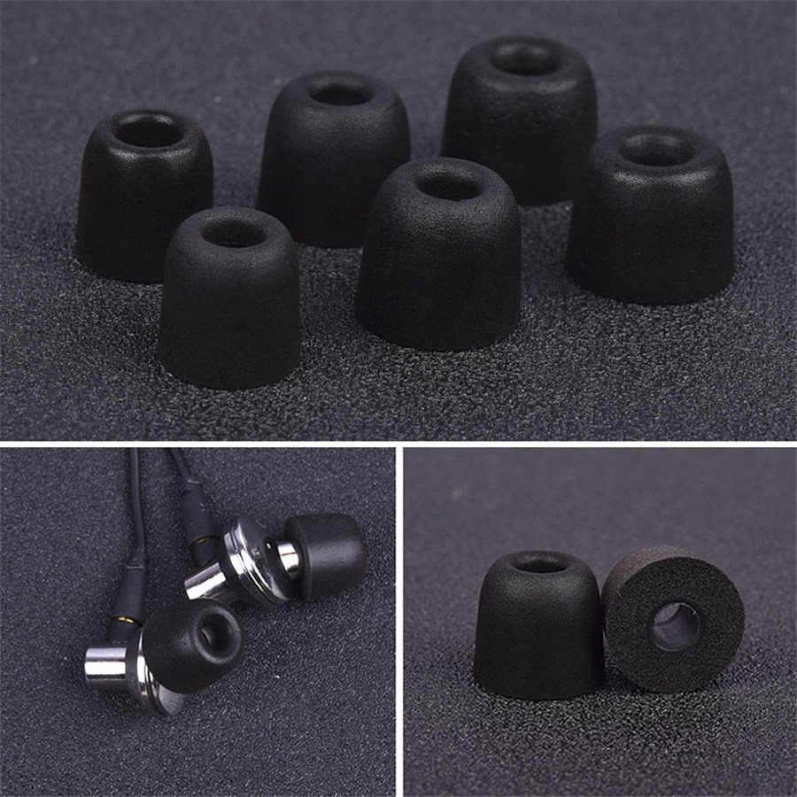 6 Pcs Earphone Tips Memory Foam Sponge Ear Pads For Headphones T400 4.9 Mm Caliber Earphones Accessories Noise Isolating Earplug