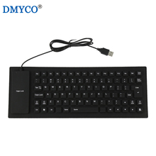 Durable Russian&English Discreet Silent Typing Keyboard 85 Keys Portable Soft Wired Rubber Gaming Teclado Lightweight For Travel