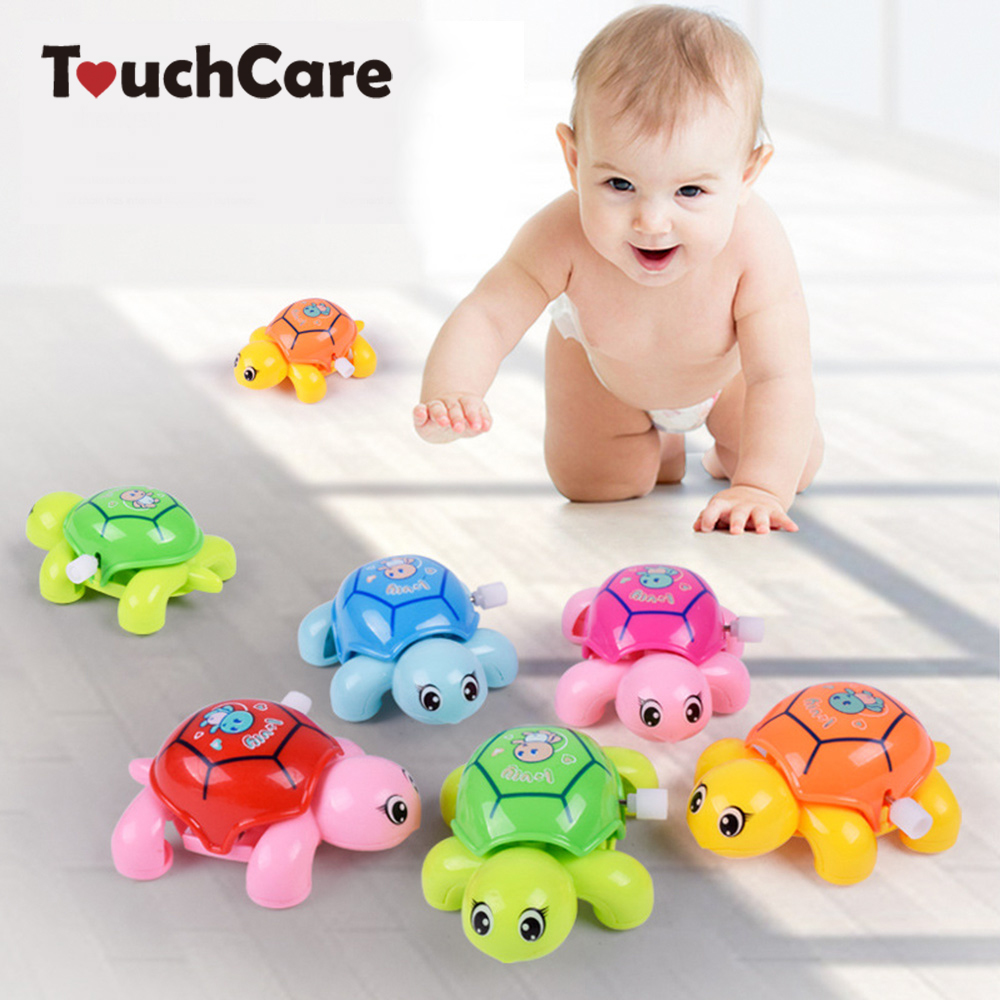 Cute Cartoon Animal Clockwork Tortoise Baby Turtles Toys Infant Crawling Wind UpToy Educational Kids Classic Toy Random Color цена