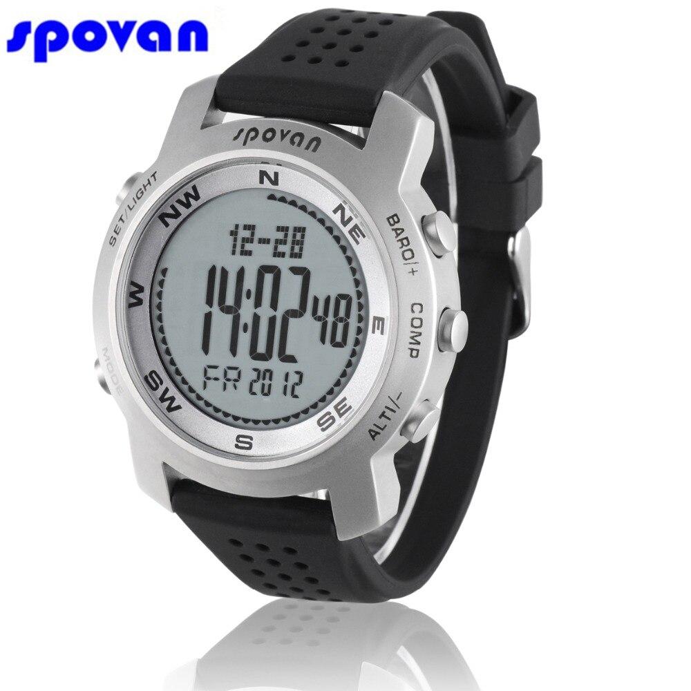 Men's Watches Fashion Style Relogio Masculino Spovan Sport Watch Mens Waterproof Barometer Altimeter Thermometer Compass Chronograph Digital Wristwatch Man