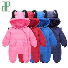 HH baby clothes Autumn & Winter Thick Warm baby girl boy rompers devil Long Sleeve Hooded Jumpsuit baby animal costume for 3-18M