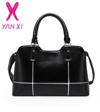 YANXI 2017 Vente Chaude arrivent 5 couleurs d'affaires solide sacs à main d'épaule fourre-tout designer PU cuir messenger haute qualité femmes sac