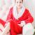 Franela de otoño e invierno las señoras vestido de noche Coreano hombres y las mujeres de terciopelo de coral albornoces gruesa larga sección de la casa pijamas