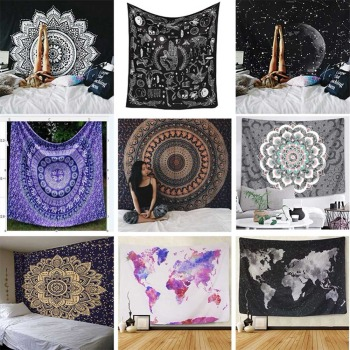 цена на Indian Mandala Tapestry Wall Hanging Sandy Beach Throw Rug Blanket Camping Tent Travel Mattress Bohemian Sleeping Pad Tapestries