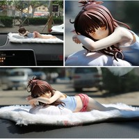 car ornaments lovely Lying down girl doll can change clothes cool styling gift for friend