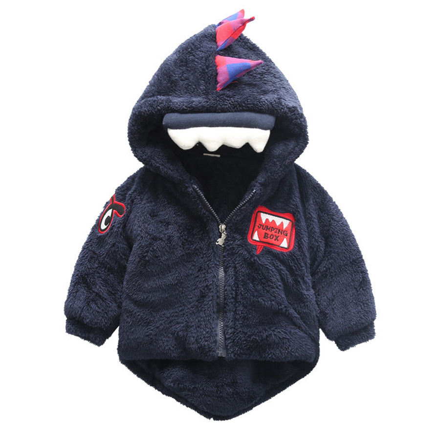 Coat Jackets Outwear Cartoon-Coats Velvet Toddler Baby-Boys Kids Winter New Infant Newborn