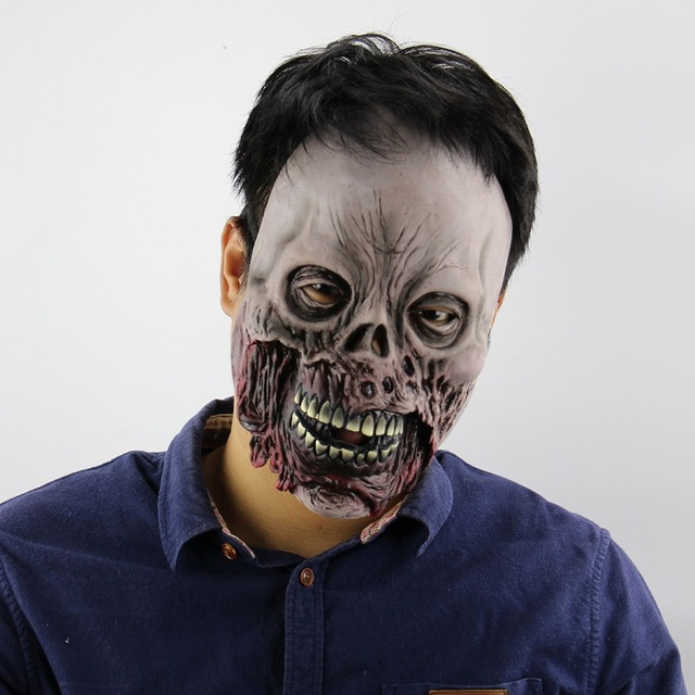 scary mask scary movie cosplay halloween costume props devil mask zombie rotten face high quality