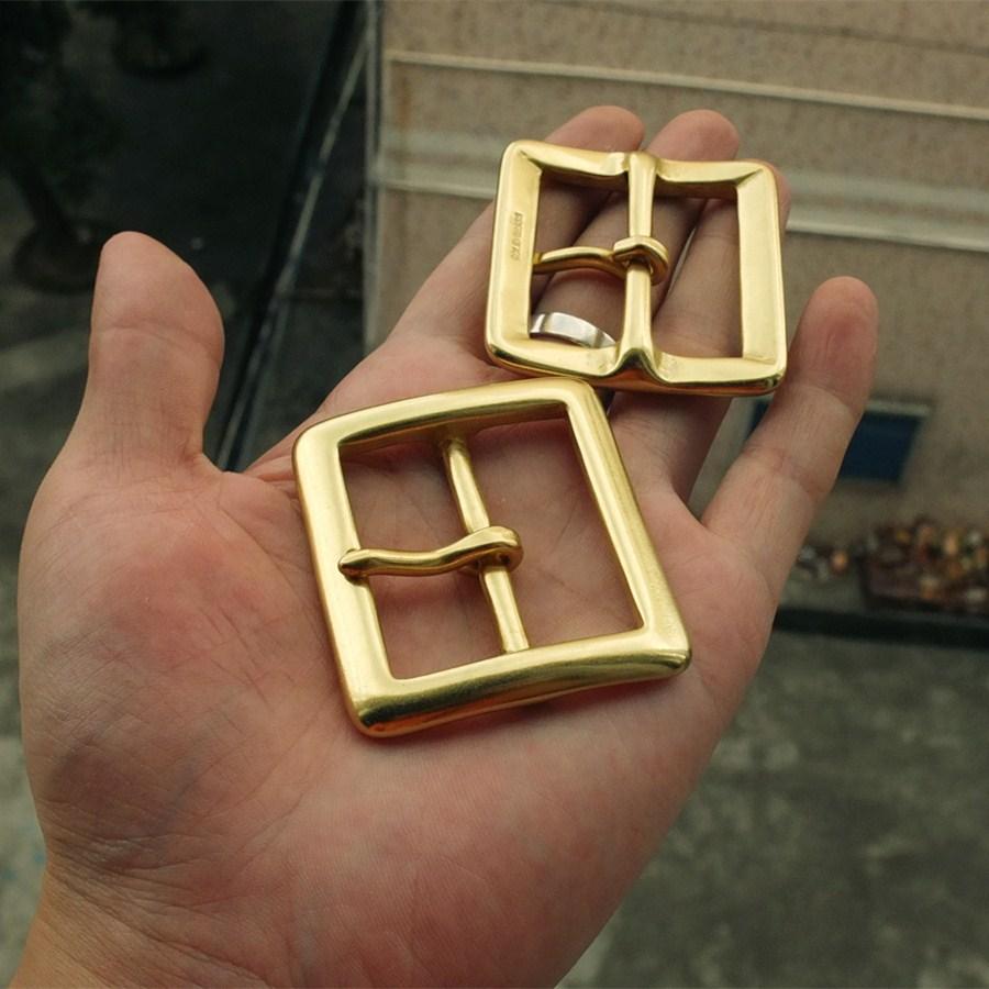 1-9/16(40mm) DIY Johnleather Craft Hardware BOR Solid Brass Belt Buckle Center Bar Buckle # 906412-B40