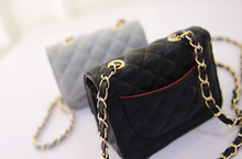 Free shipping, 2018 new women bag, diamond lattice golden chain women messenger bags, fashion mini handbags.
