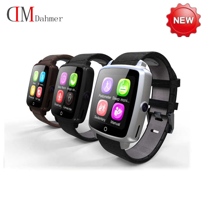 New Leather Bluetooth font b SmartWatch b font U11C Smart Watch Phone Support SIM Card Video