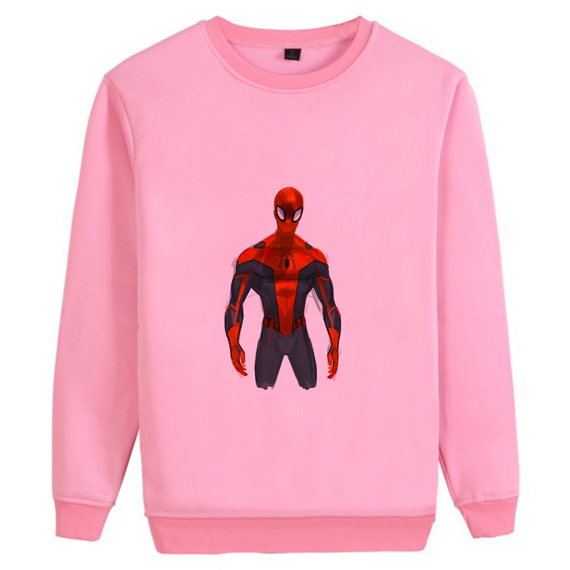 Spider Man Marvel Movie Trendy O NECK Cotton Sweatshirts Teen Casual Unisex hoodie A193291 in Hoodies amp Sweatshirts from Men 39 s Clothing