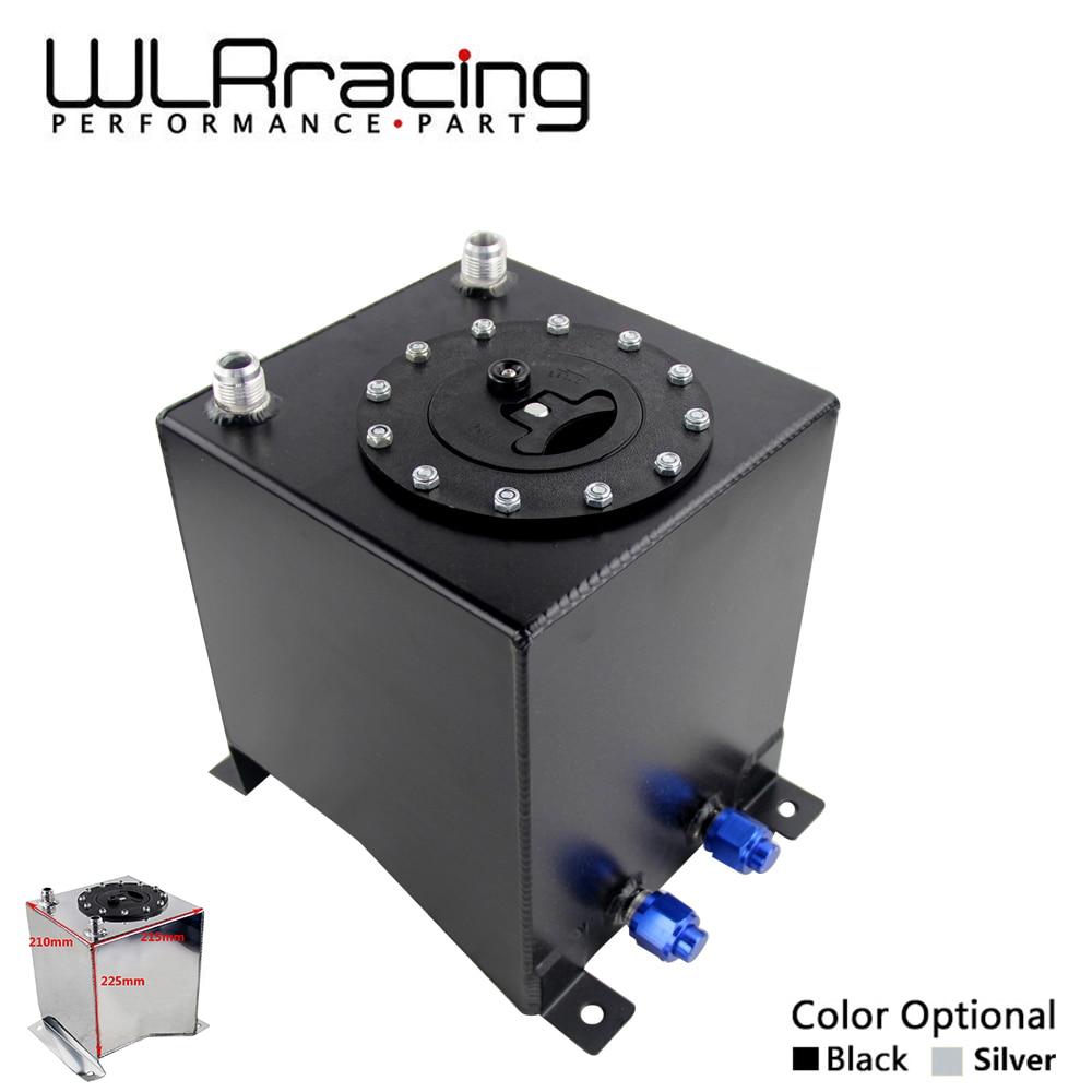 WLR RACING - 10L Aluminium Fuel Surge tank Fuel cell w/o sensor foam inside 210*215*225mm WLR-TK13