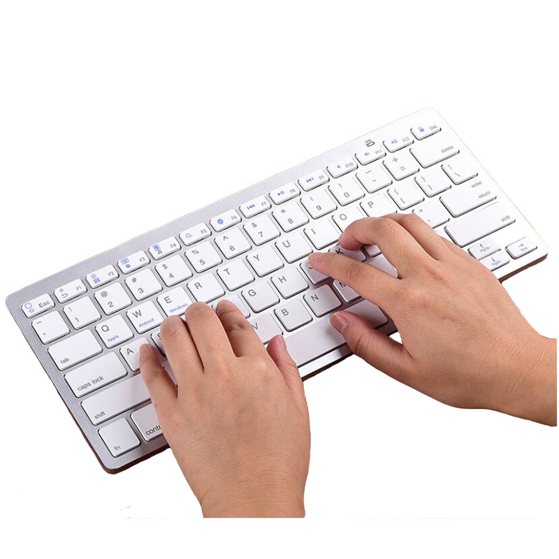 2.4G Wireless Bluetooth Computer Keyboard Tablet PC 78 Key Russian German Japanese Spanish French Farsi Traditional Cangjie