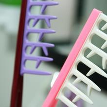 Profesional Maraña Cabello Iónico Cepillo Barberos Styling Peluquería Peine De Plástico Al Azar Colores Microtech Escova Cepillo Alisadora