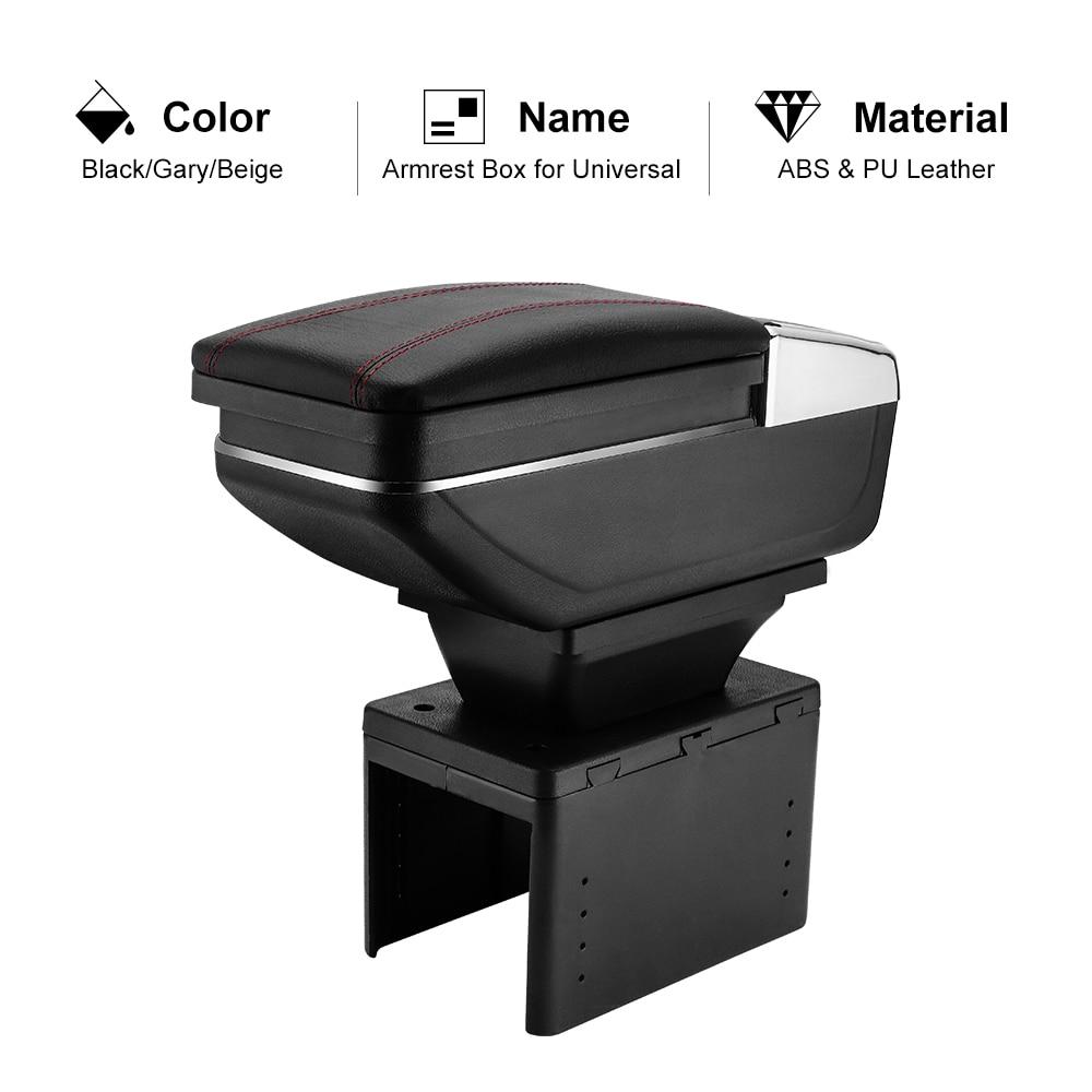 imitation leather cover // black Car Armrest Perfekt Fit inkl Storage Box pro.tec Centre Console