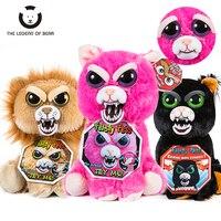Change Face Feisty Pets Unicorn Teddy Bear Cat Stuffed Plush Toys Funny Expression Plush Panda Toys